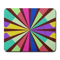 Rays In Retro Colors Large Mousepad by LalyLauraFLM