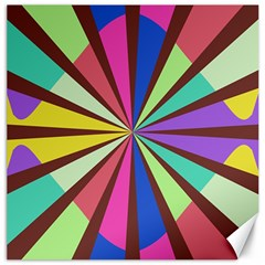 Rays In Retro Colors Canvas 16  X 16  by LalyLauraFLM