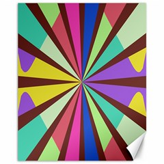 Rays in retro colors Canvas 11  x 14  by LalyLauraFLM