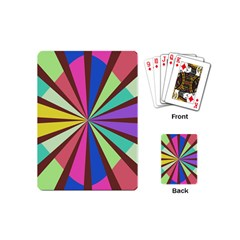 Rays In Retro Colors Playing Cards (mini) by LalyLauraFLM