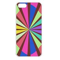 Rays In Retro Colors Apple Iphone 5 Seamless Case (white) by LalyLauraFLM