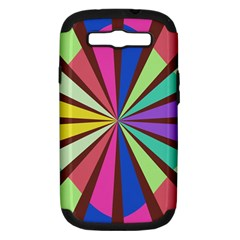 Rays In Retro Colors Samsung Galaxy S Iii Hardshell Case (pc+silicone) by LalyLauraFLM