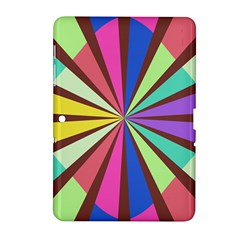 Rays In Retro Colors Samsung Galaxy Tab 2 (10 1 ) P5100 Hardshell Case  by LalyLauraFLM