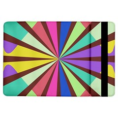 Rays In Retro Colors	apple Ipad Air Flip Case by LalyLauraFLM