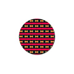 Rhombus And Stripes Pattern Golf Ball Marker (10 Pack) by LalyLauraFLM