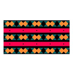 Rhombus and stripes pattern Satin Shawl by LalyLauraFLM