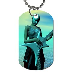 Sad Guitar Dog Tag (two Sides) by icarusismartdesigns