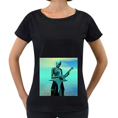 Sad Guitar Women s Loose-Fit T-Shirt (Black) by icarusismartdesigns