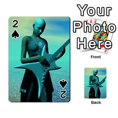 Sad Guitar Playing Cards 54 Designs  by icarusismartdesigns