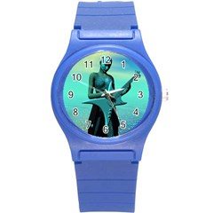 Sad Guitar Round Plastic Sport Watch (s) by icarusismartdesigns