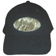Crumpled Foil Black Cap by MoreColorsinLife
