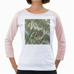 Crumpled Foil Girly Raglans by MoreColorsinLife