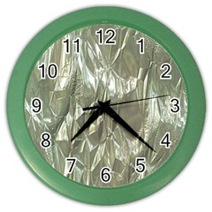 Crumpled Foil Color Wall Clocks by MoreColorsinLife