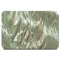 Crumpled Foil Large Doormat  by MoreColorsinLife