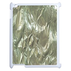 Crumpled Foil Apple Ipad 2 Case (white) by MoreColorsinLife