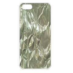 Crumpled Foil Apple Iphone 5 Seamless Case (white) by MoreColorsinLife
