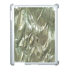 Crumpled Foil Apple Ipad 3/4 Case (white) by MoreColorsinLife