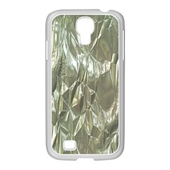 Crumpled Foil Samsung Galaxy S4 I9500/ I9505 Case (white) by MoreColorsinLife