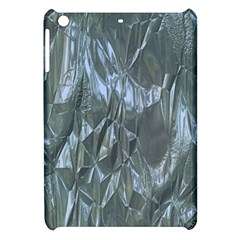 Crumpled Foil Blue Apple Ipad Mini Hardshell Case by MoreColorsinLife