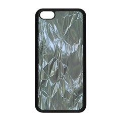 Crumpled Foil Blue Apple Iphone 5c Seamless Case (black) by MoreColorsinLife