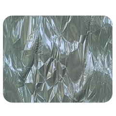 Crumpled Foil Blue Double Sided Flano Blanket (Medium)  by MoreColorsinLife