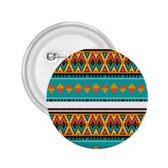 Tribal Design In Retro Colors 2 25  Button by LalyLauraFLM