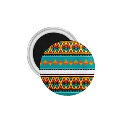 Tribal Design In Retro Colors 1 75  Magnet by LalyLauraFLM