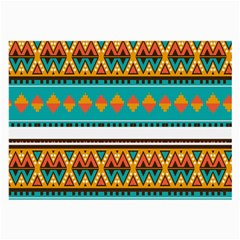 Tribal Design In Retro Colors Large Glasses Cloth (2 Sides) by LalyLauraFLM