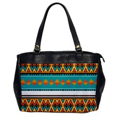 Tribal Design In Retro Colors Oversize Office Handbag by LalyLauraFLM