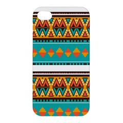 Tribal Design In Retro Colors Apple Iphone 4/4s Hardshell Case by LalyLauraFLM