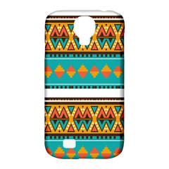 Tribal Design In Retro Colors Samsung Galaxy S4 Classic Hardshell Case (pc+silicone) by LalyLauraFLM