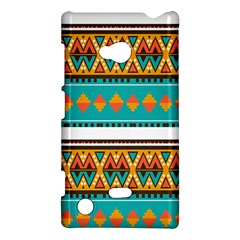 Tribal Design In Retro Colors Nokia Lumia 720 Hardshell Case by LalyLauraFLM