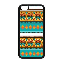 Tribal Design In Retro Colors Apple Iphone 5c Seamless Case (black) by LalyLauraFLM