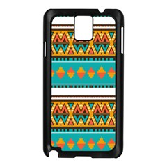 Tribal Design In Retro Colors Samsung Galaxy Note 3 N9005 Case (black) by LalyLauraFLM
