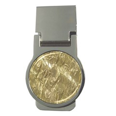 Crumpled Foil Golden Money Clips (Round)  by MoreColorsinLife