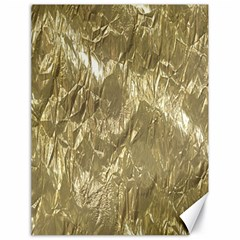 Crumpled Foil Golden Canvas 18  X 24   by MoreColorsinLife