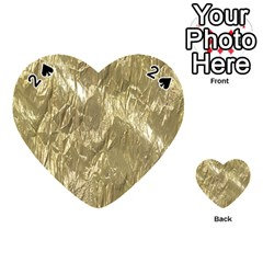 Crumpled Foil Golden Playing Cards 54 (heart)