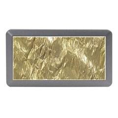 Crumpled Foil Golden Memory Card Reader (Mini) by MoreColorsinLife