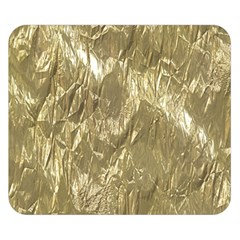 Crumpled Foil Golden Double Sided Flano Blanket (small)  by MoreColorsinLife