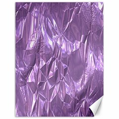 Crumpled Foil Lilac Canvas 12  X 16   by MoreColorsinLife