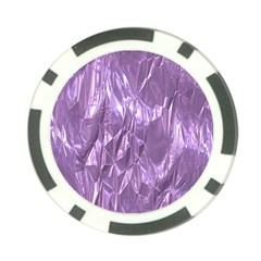 Crumpled Foil Lilac Poker Chip Card Guards by MoreColorsinLife