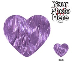 Crumpled Foil Lilac Multi Purpose Cards (heart)  by MoreColorsinLife