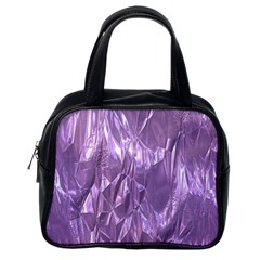 Crumpled Foil Lilac Classic Handbags (one Side) by MoreColorsinLife