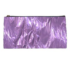 Crumpled Foil Lilac Pencil Cases by MoreColorsinLife