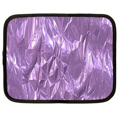Crumpled Foil Lilac Netbook Case (xl)  by MoreColorsinLife