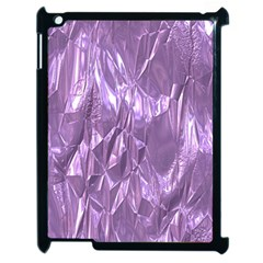Crumpled Foil Lilac Apple Ipad 2 Case (black) by MoreColorsinLife