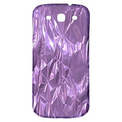 Crumpled Foil Lilac Samsung Galaxy S3 S Iii Classic Hardshell Back Case by MoreColorsinLife
