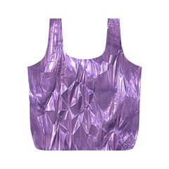 Crumpled Foil Lilac Full Print Recycle Bags (m)  by MoreColorsinLife