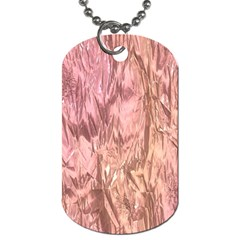 Crumpled Foil Pink Dog Tag (two Sides) by MoreColorsinLife