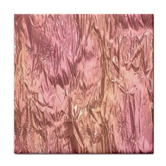 Crumpled Foil Pink Face Towel by MoreColorsinLife